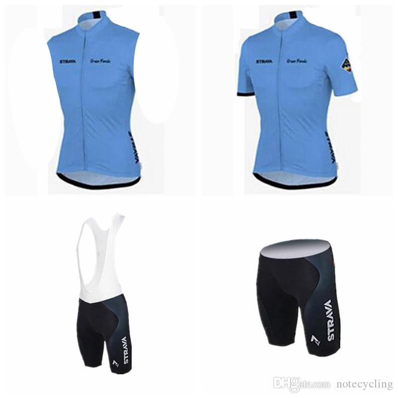 STRAVA Cycling Short Sleeves Jersey Bib Shorts Sleeveless Vest Sets Bicycle  Cheap Bike Costume Maillot Racing Ropa Ciclismo Jersey A41834 Cycle Shirts  ... 99b3124a9