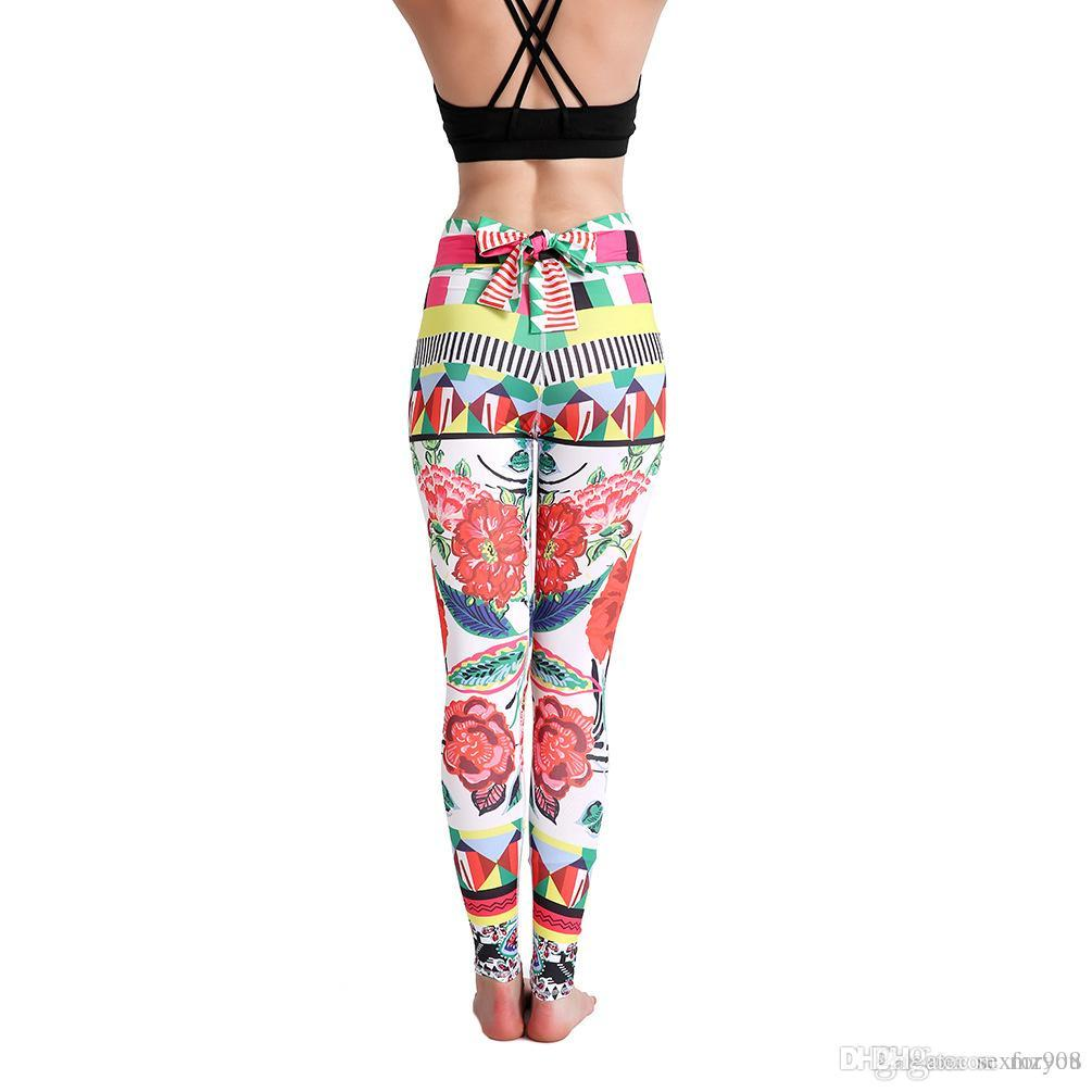 126f6cc1bf871 Women Push Up Workout Leggings New Sexy Bow Tie High Waist Elastic ...
