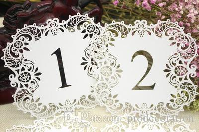 New Fashion Wedding Table Number Table Cards Hollow Laser Cut Card ...