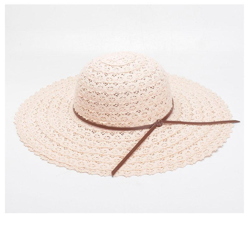 2018 Straw Beach Hat For Women Wide Brim Summer Sun Hat Foldable Block  Solid Panama For Lady Kids Hats Wide Brim Hat From Amoywatches c43750e51bc