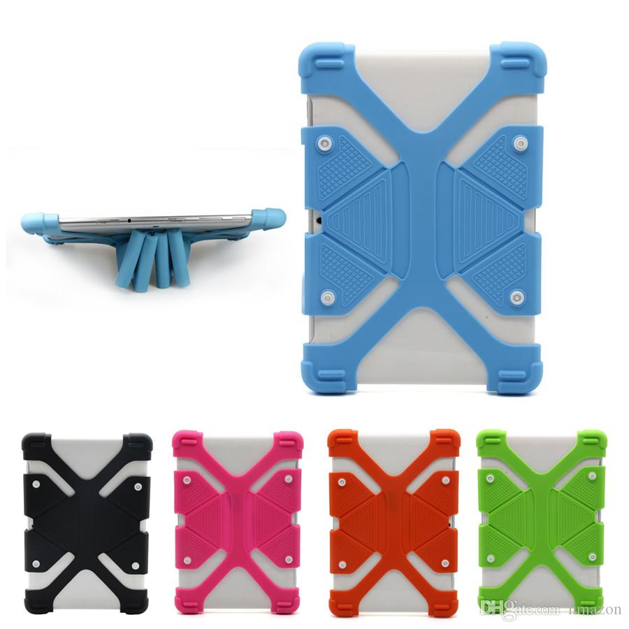 Universal Soft Silicone Tablet Phone Case Heavy Duty Shockproof Protective Stand Cover For Ipad mini 7 8 9 12 inch Tablet Case
