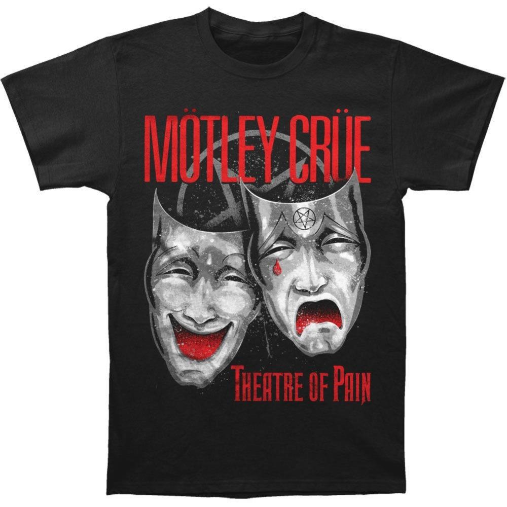 Fashion Classic Men'S Short Motley Crue Men'S Theatre Of Pain Cry Zomer O-Neck T Shirts