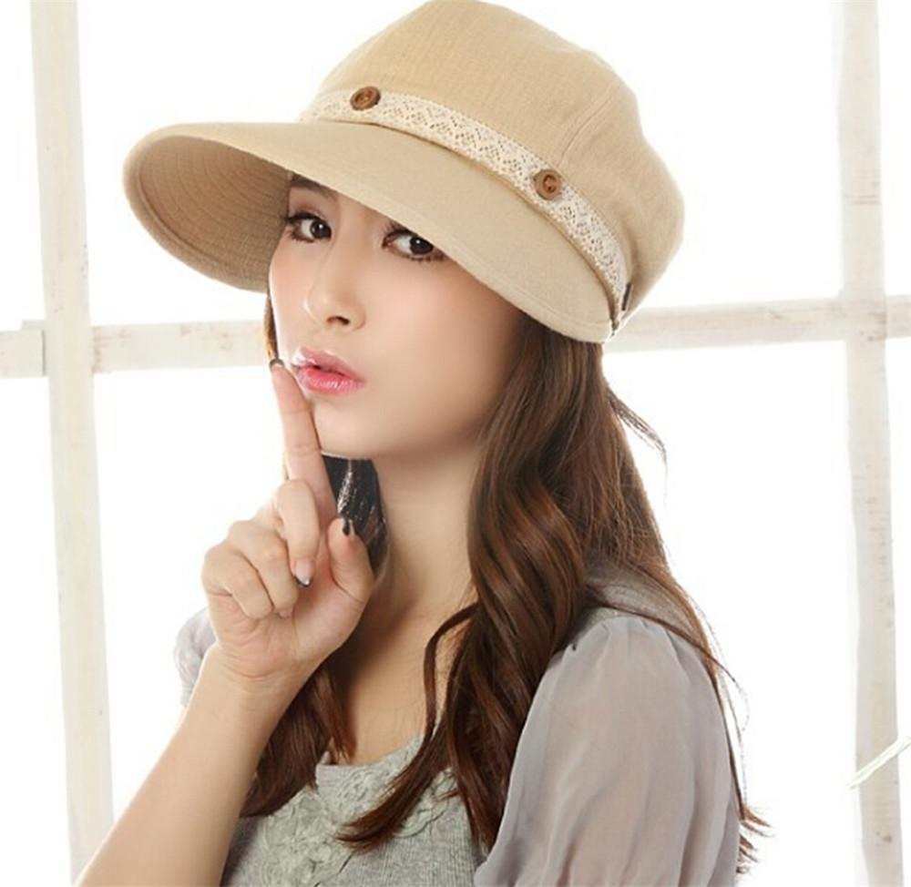 01993c48f Summer Hot Sale Cheap Cotton Sun Hat Women Anti-UV Lace Sunhat Topee Female  Korean Summer Large Brim Sun Hats