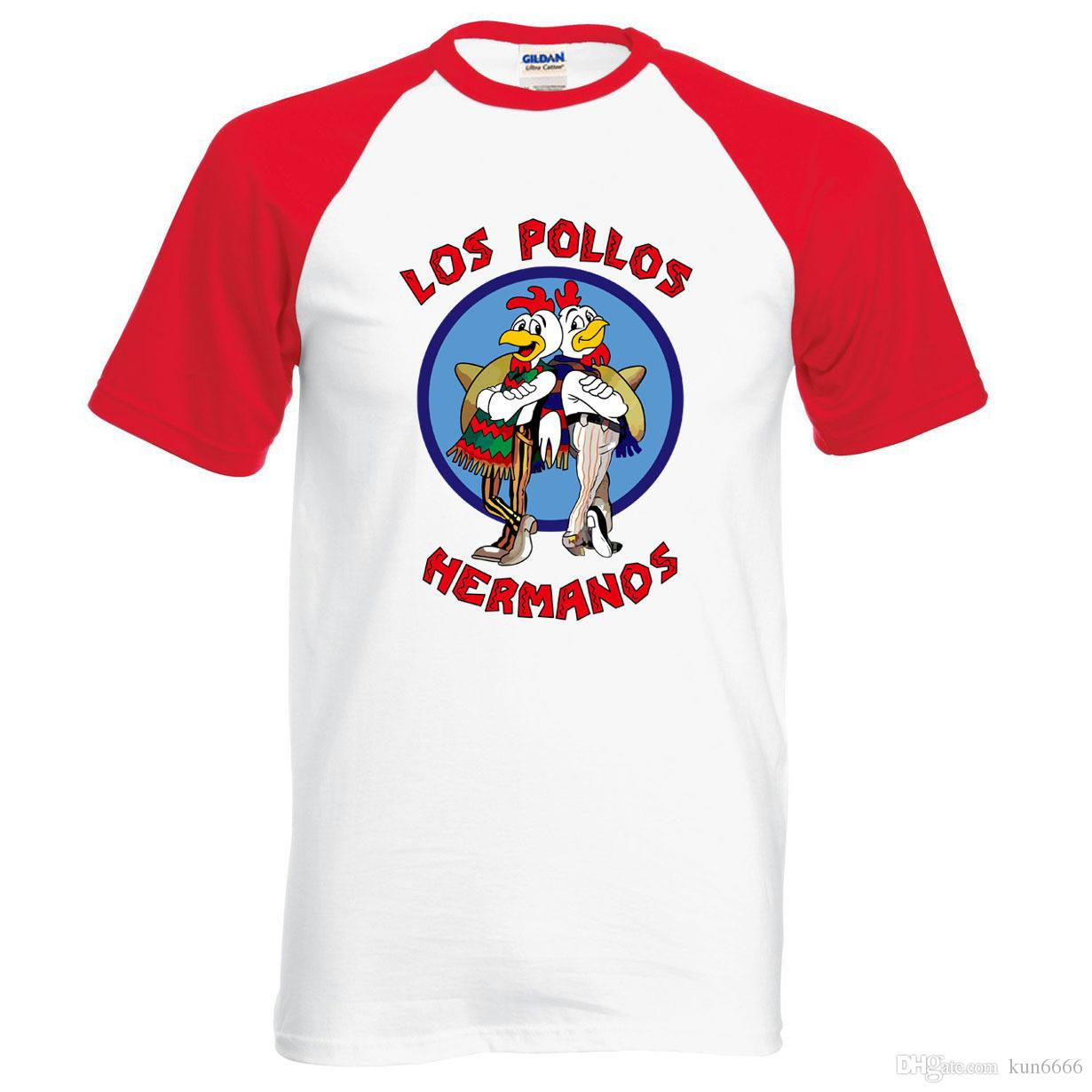 9cc2ecb08 2019 Wholesale Breaking Bad Tees LOS POLLOS Hermanos T Shirt Chicken  Brothers 2018 Hot Sale Summer Cotton Fashion Raglan Tee For Fans From  Kun6666, ...