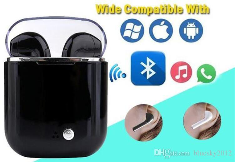 New I7S I9 Plus TWS Twins Bluetooth Earbuds Mini Wireless Earphones Headset with Mic Stereo V4.2 Headphone for Iphone Android
