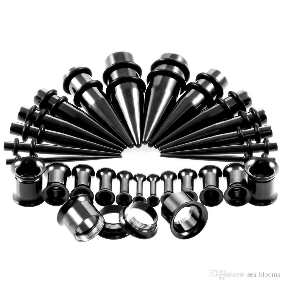 / Set Ear Stretching Kit Plug and Tapers Calibri Set cono in acciaio inossidabile con spine orecchino Ear Plug G80L
