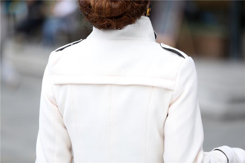Women Trench Coat 2016 Winter Autumn Fashion Slim Fit Women Long Trench Wool Blend Coat Belted Overcoat Women Coat Outerwear