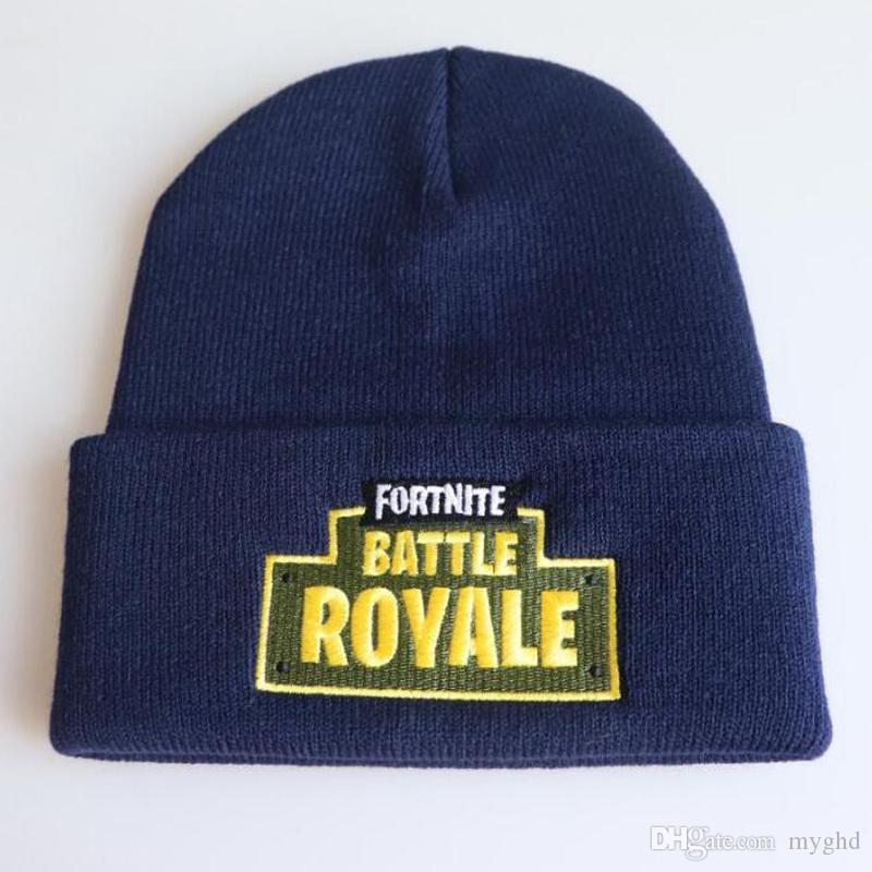 1ab66866d68 2018 Fortnite Battle Knitted Hat Fashion Hip Hop Embroidery Knitted ...