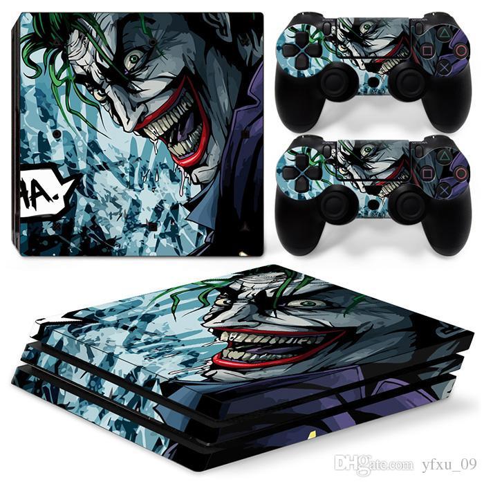 Cool Joker Vinyl Skin Aufkleber Dekor Abziehbilder Für Sony Ps4 Pro Konsole 2 Pcs Controller Cover Haut Aufkleber