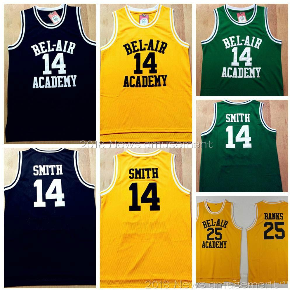 The Fresh Prince of Bel-Air  14 Will Smith Jersey 25 Carlton Banks ... 09fdcde3c