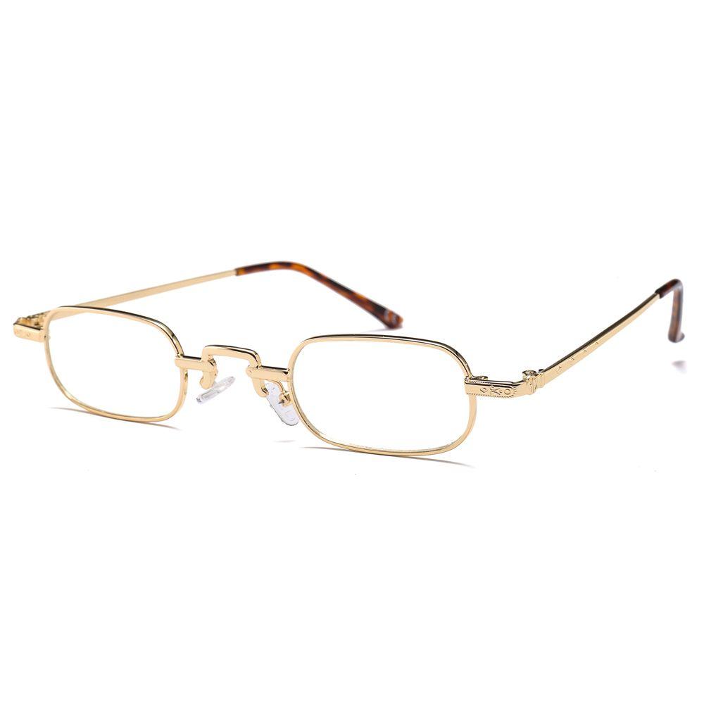 Compre Marcos De Anteojos Rectangulares Para Hombres Marco De Metal Dorado  Negro Gafas Pequeñas Mujeres Ópticas Vintage Retro Unisex A  5.99 Del  Stevefan ... c446d5767a