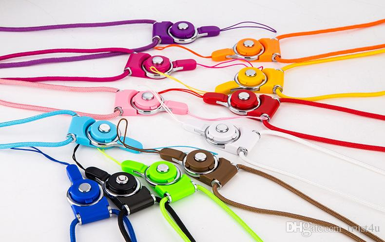 Fashion Universial Lanyards Rotatable 2in1 Neck Strap Detachable Lanyard Long Hanging Badges for Cell Phone MP3 MP4 Flash Drives ID Cards
