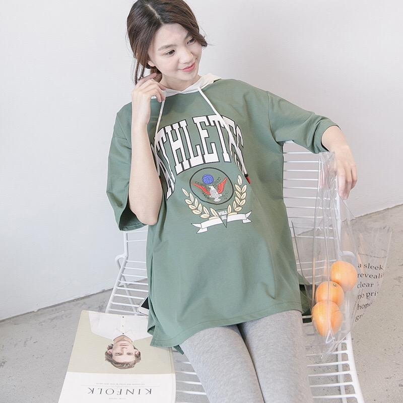 d6770773abe 2019 2018 Korea Style Pregnant Woman Clothes Maternity Hoodies T Shirt Tops  Half Sleeve Ccotton Printed Flus Size Loose Pregnant Tops From Dejavui
