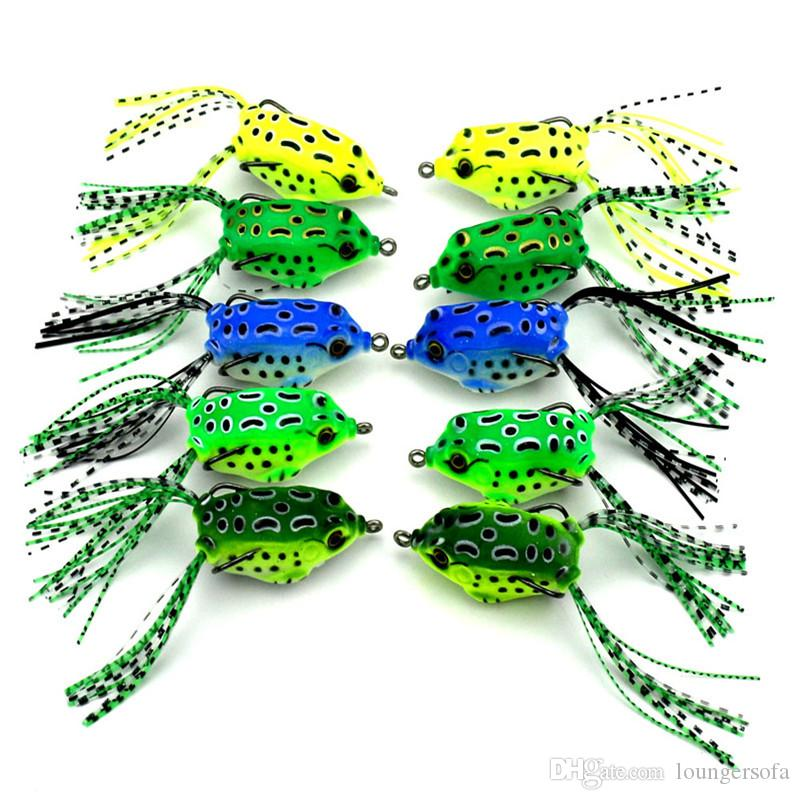 3D Eyes Plastic Lures Two Sharp Claw Soft Bait Artificial Mini Frog Shape Double Hook Pesca Fishing Baits New 2 85hj UU