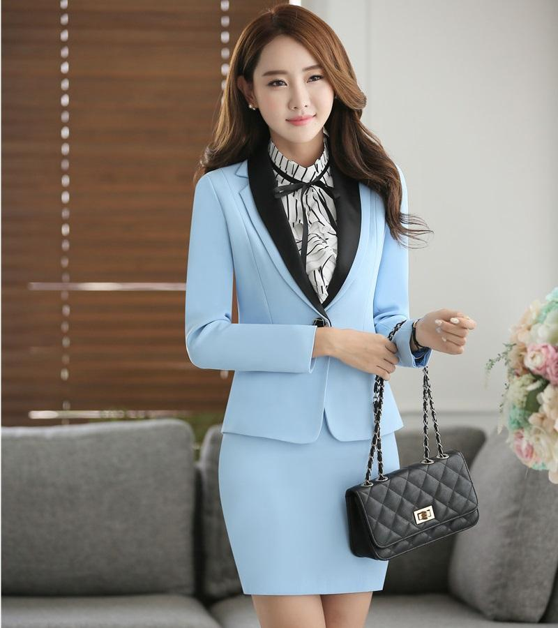 2018 Novelty Blue Fashion Autumn Winter Long Sleeve Formal