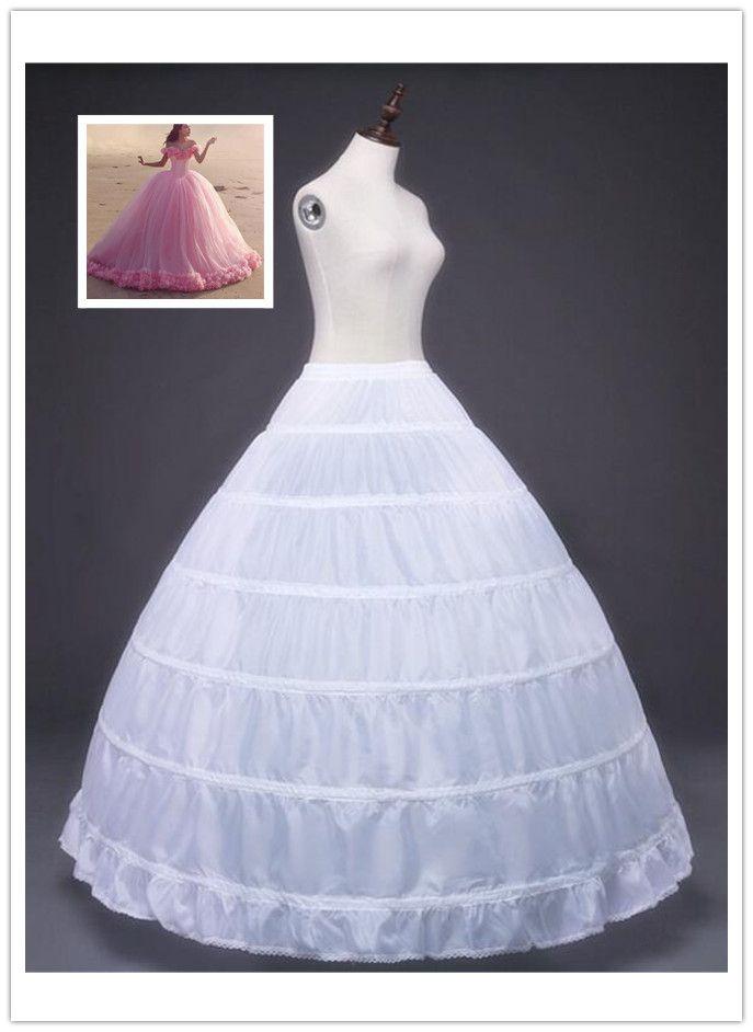 6 Hoops Petticoat Super Cheap Ball Gown Wedding Slip Crinoline ...