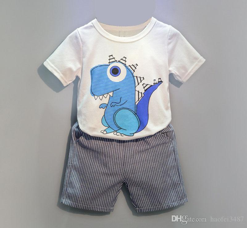 2231064ae31 Kids Tales Hot Sale Brand Boys Clothing Children Summer Boys Clothes  Cartoon Kids Boy Girls Clothing Set T Shit+Pants Cotton UK 2019 From  Haofei3487