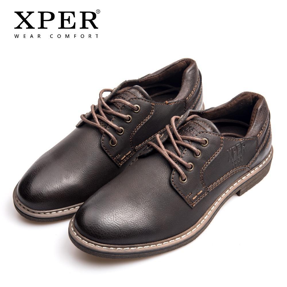 6f34703b6 Compre XPER Marca Moda Hombres Zapatos De Vestir Roma Cuero Oxfords Hombre  Calzado De Negocios Con Cordones Zapatos Formales Café Casual   XHY12605BR  A ...