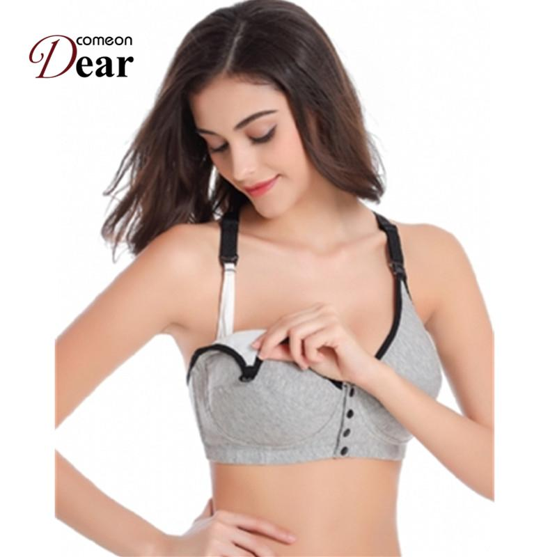 Comeondear Underwear Set Sleep Bras for Nursing Pregnant Maternity BB017 Front Opening Buckle Comfortable Breastfeeding Bra