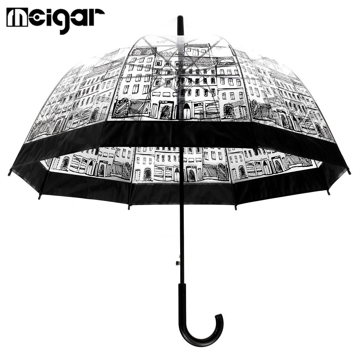 95c096aea 2019 Transparent Umbrellas Automatic Plastic EVA Creative Rain Sunny Women  Girls Ladies Long Handle Umbrellas From Melome, $315.72 | DHgate.Com