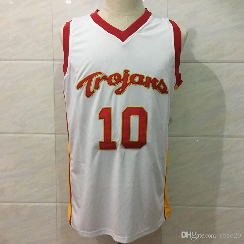 fed1e51cc  10 Demar DeRozan usc Trojans College Classic Basketball Jersey White Men s  Embroidery Stitches Customize any Number and name jerseys