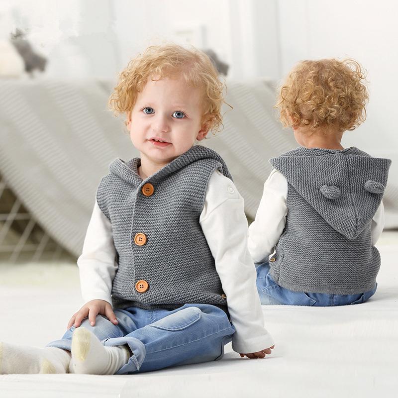299b74215 Baby Vests Autumn Winter Warm Girls Hooded Waistcoats Toddler ...