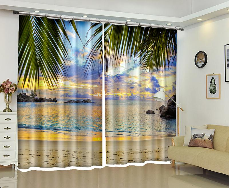 Attrayant 2018 Coco Beach Print Luxury Window 3d Curtains For Living Room Bedroom  Hotel Office Drapes Cortinas Para Sala Dormitorio Rideaux From Shutie, ...