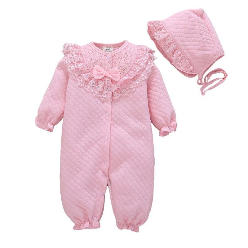 afa96b23b1 New Born Baby Girl Rompers 2018 autumn long sleeve clothes toddler party  dress gift set playsuit outfits clothes 0-3-6-9 months