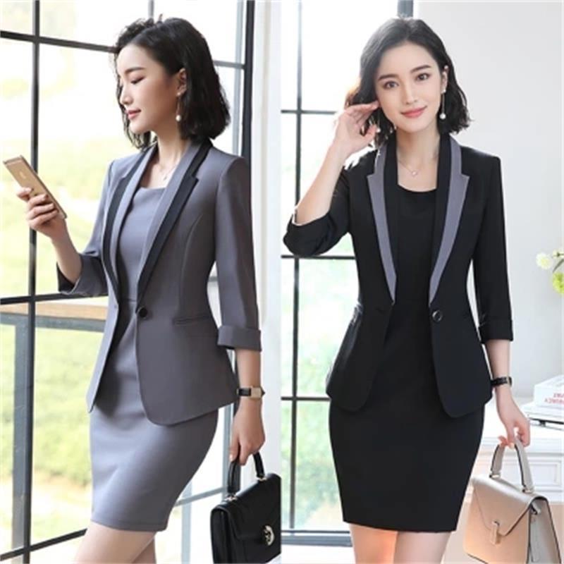 2019 2018 Hot Ladies Dress Suit For Work Full Sleeve Blazer