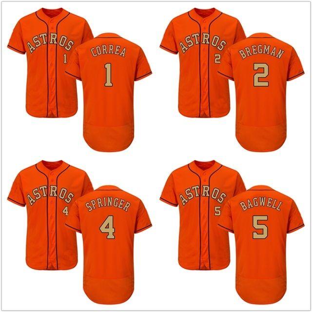 da7b57faf47 2018 Men New Astros 1 Carlos Correa 2 Alex Bregman 4 George Springer ...