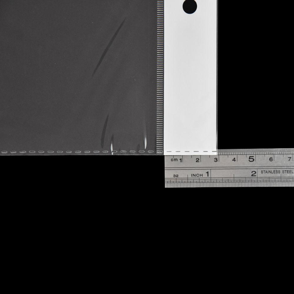10.5x62cm Trasparente Sacchetto di plastica della parrucca di OPP Sacchetto Autoadesivo Sacchetti di imballaggio poli trasparente di alta qualità