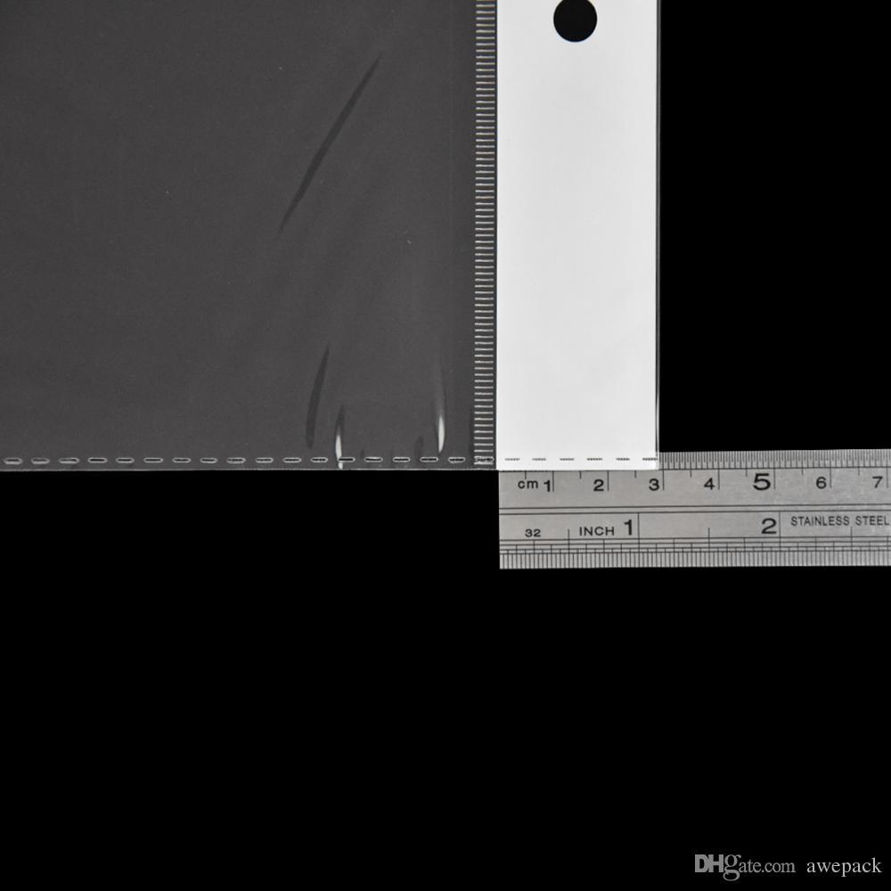 12,5 * 52 centimetri autoadesiva sacchetto di plastica trasparente hairpiece pacchetto sacchetto di estensione sacchetto trasparente OPP poli sacchetto di drogheria borse di imballaggio 100 pz