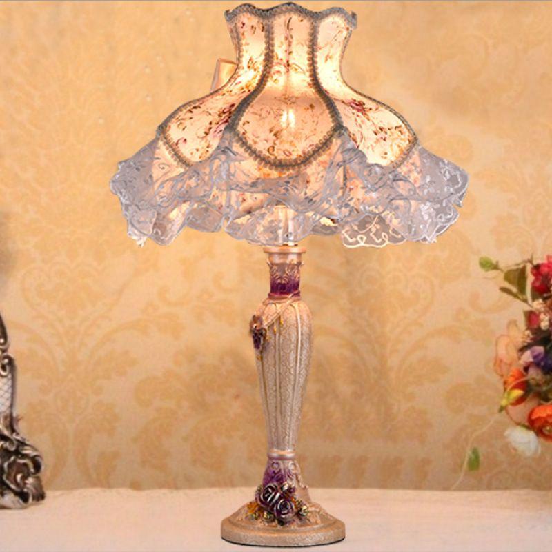 2019 Tuda 40x51cm European Vintage Style Table Lamp Pastoral Style