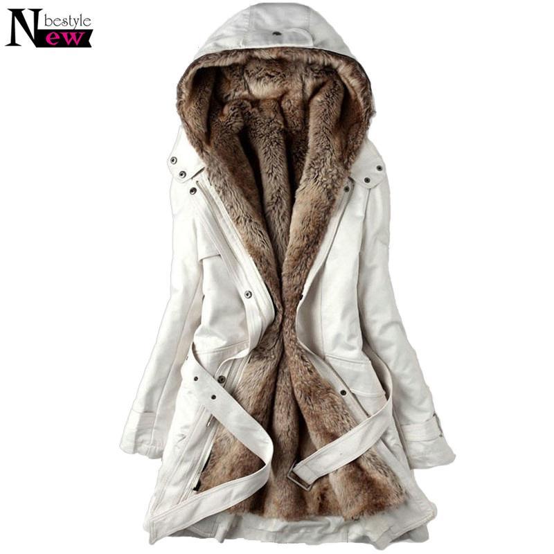 2019 Fashion Women S Winter Faux Fur Lining Coats Warm Long Cotton