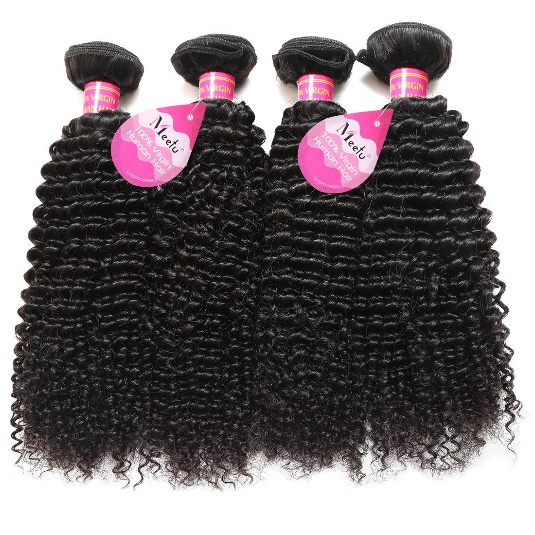 Brazilian Peruvian Malaysian Hair Natural Curly Human Jerry Curl Hair Weaves 4 Bundles Unprocessed Vrigin Hair Extensions For Black Women