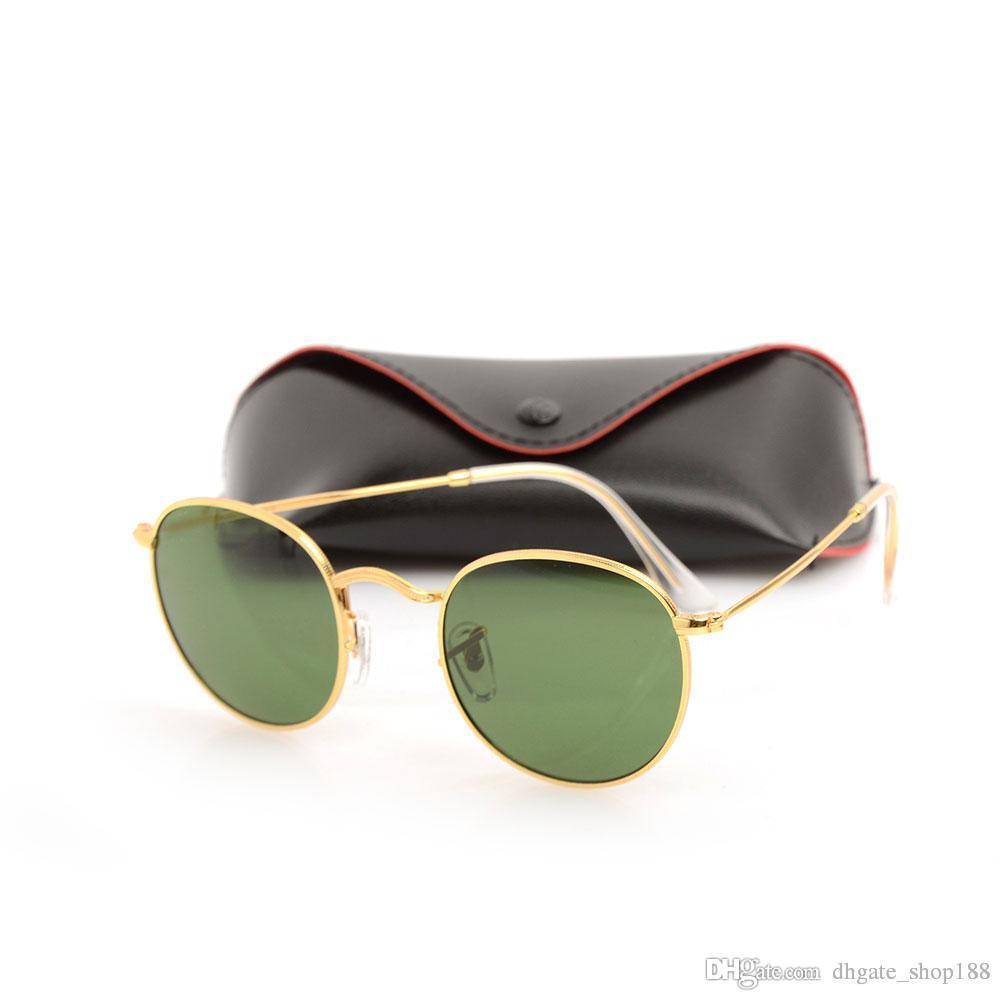 1c7f26d1c6 New 3447 Sun Glasses Designer Glasses Eyewear Sun Glasses Glass Lens Womens  Sunglasses Ray Mens Round Sunglasses With Original Cases Boxs Prescription  ...