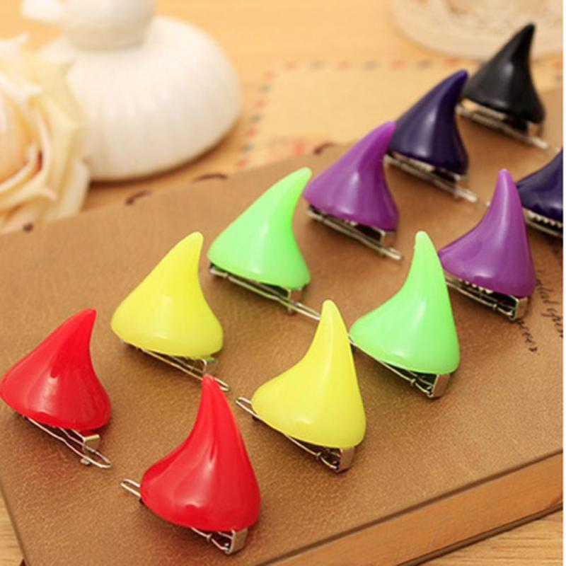 Horror Gothic Cosplay Costume Hair Clips Small Demon OX Horn Halloween Hair Accessories Clip Pin Hairpins C3