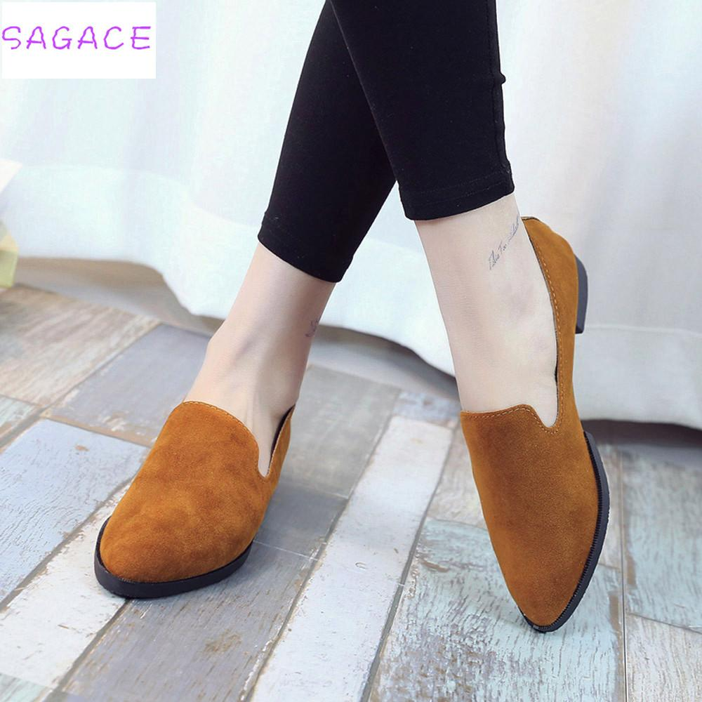 6cd90567091a4 2018 Hot New Fashion Women Girls Slip On Flat Shoes Casual Sandals  Ballerina Shoes Size 36 40 Ladies Solid Fashion Loafer High Heel Shoes  Wholesale Shoes ...