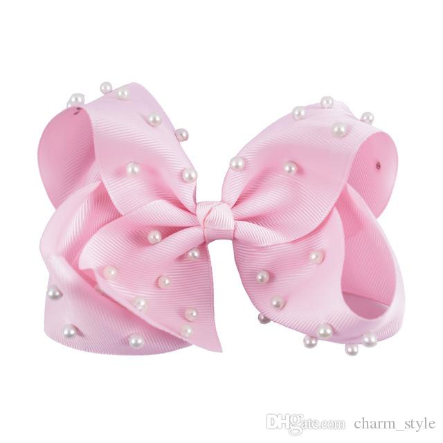 """5"""" Fashion Large Ombre Signature Grosgrain Hair Bows Clips With Big Knotted HairBows For Girl Head Wear"""