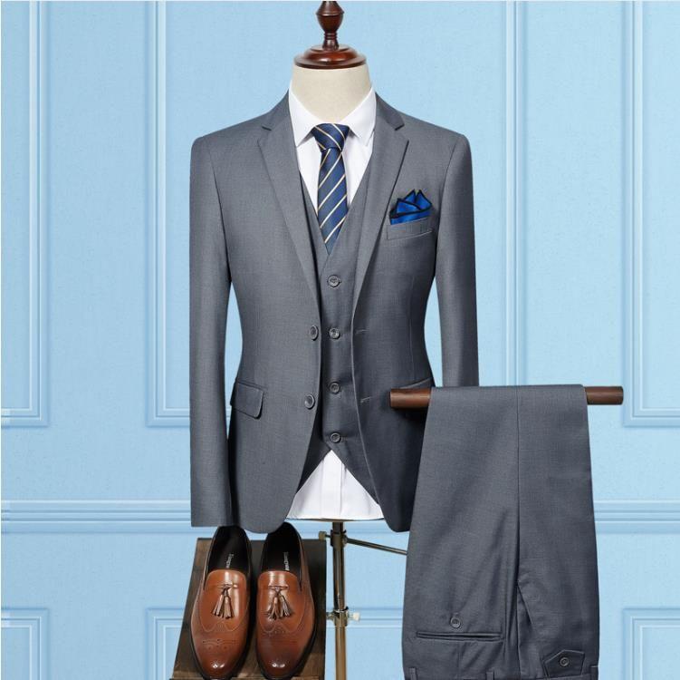 Acquista Jacket + Vest + Pants Uomo Slim Fit Abiti Da Uomo Abiti Da Sposa  Con Pantaloni Business Uomo Abito Formale Da Uomo Abbigliamento Abiti  Casual Da ... d10e5b1e3da