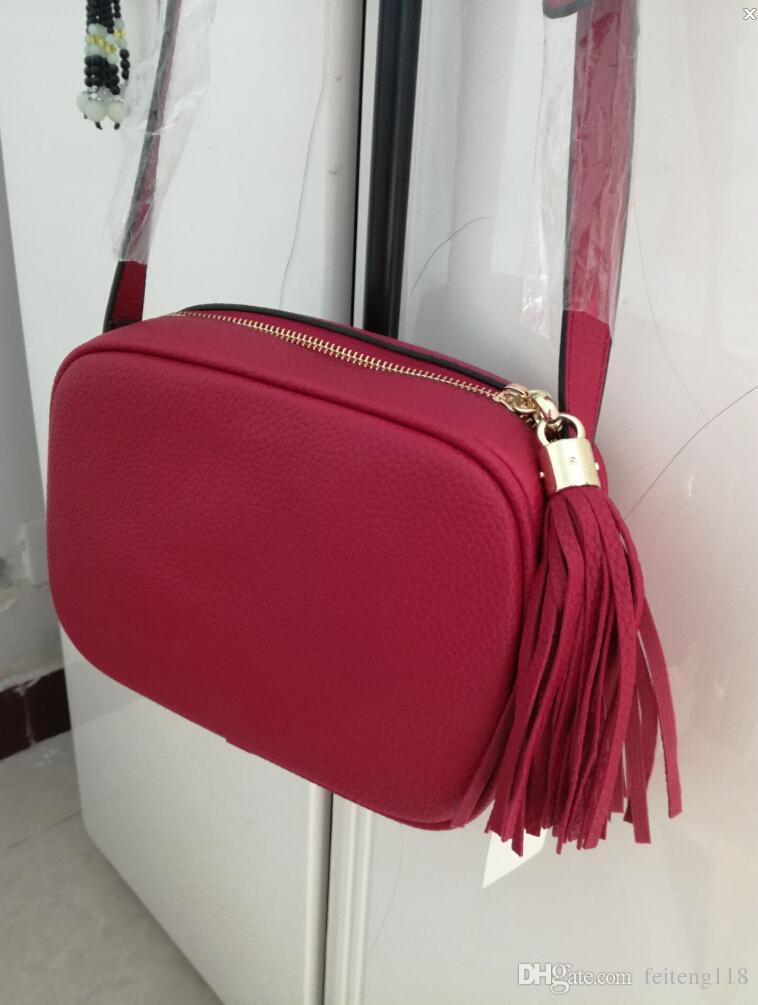 Bolso de la manera de las mujeres Marca de fábrica famosa del bolso de hombro de la borla SOHO Bolsos de las señoras de la borla del perfil de Litchi Mujeres Messenger Bag 308364