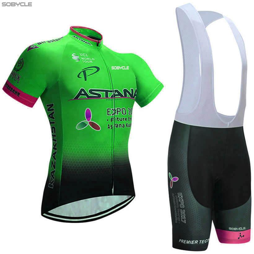 a7621dd25 Sports 2018 GREEN ASTANA Cycling Jersey Short Summer Quick Dry MTB Ropa  Ciclismo PRO Cycling Sets WEAR Mens BICYCLING Maillot Culotte Road Cycling  Shoes ...