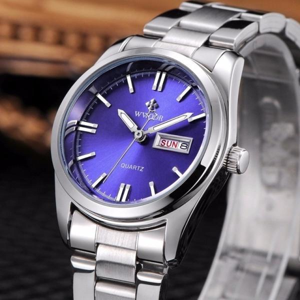 d17b580e61db Compre Marca De Lujo Wwoor Reloj Mujer Moda Cuarzo Relojes Mujer Acero  Inoxidable Completo A  34.52 Del Dissatisfaction