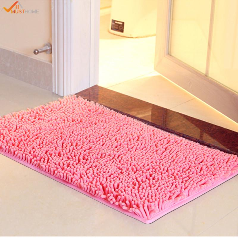 online cheap 4060cm microfiber chenille bathroom rugs carpet shag non slip shower soft plush absorbent bath mat rug for bathroom by copy03 dhgatecom - Bathroom Rugs