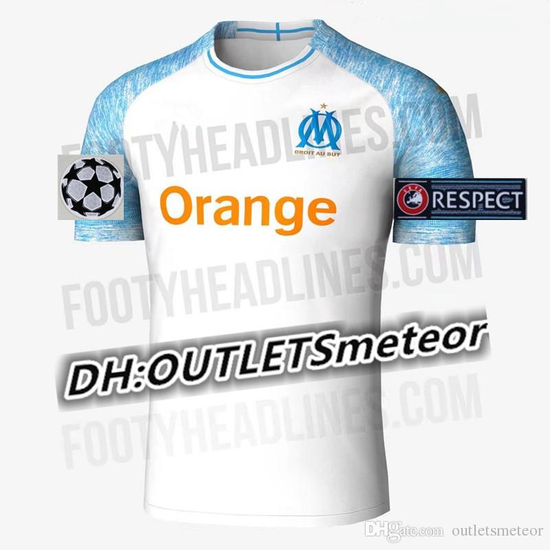 Camiseta De Fútbol Olympique De Marseille 2018 2019 OM Marseille Maillot De  Foot Camiseta De Fútbol PAYET L.GUSTAVO THAUVIN 18 19 Camiseta De Fútbol ... a376ebbbeaf01