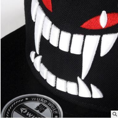 WUKE Big teeth south Korean baseball cap hipster hats in hip hop hat