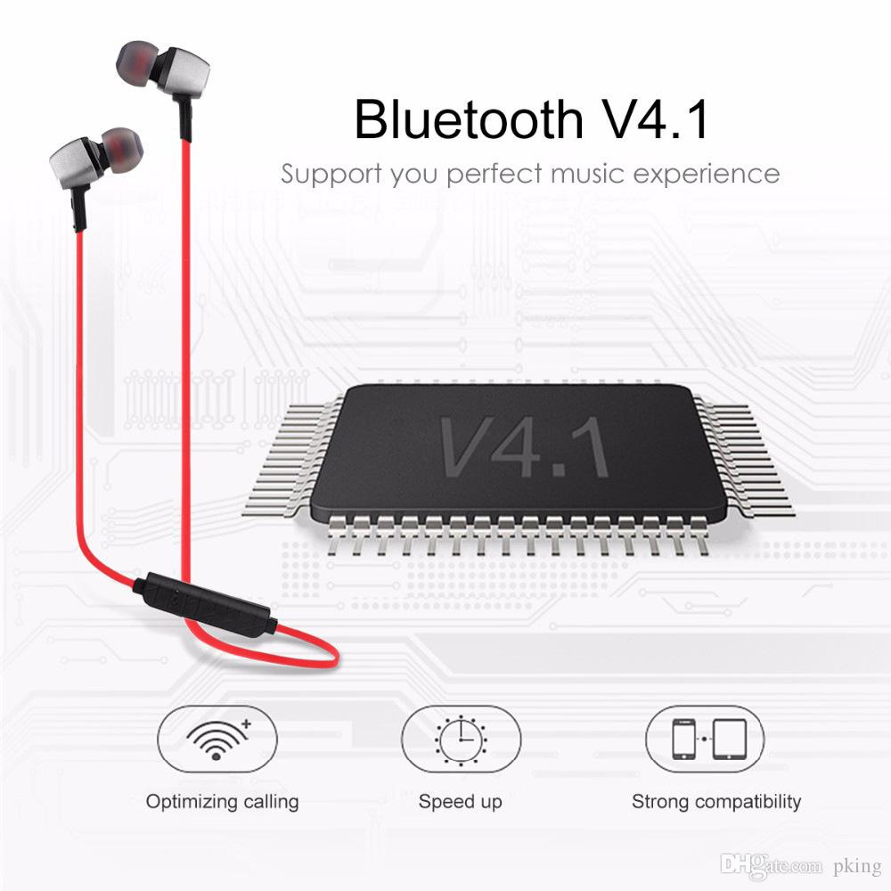 M6 Stereo Wireless Bluetooth V4.1 Earphone Sports Running Magnetic Noise Cancelling Earpiece with Mic for iPhone Xiaomi