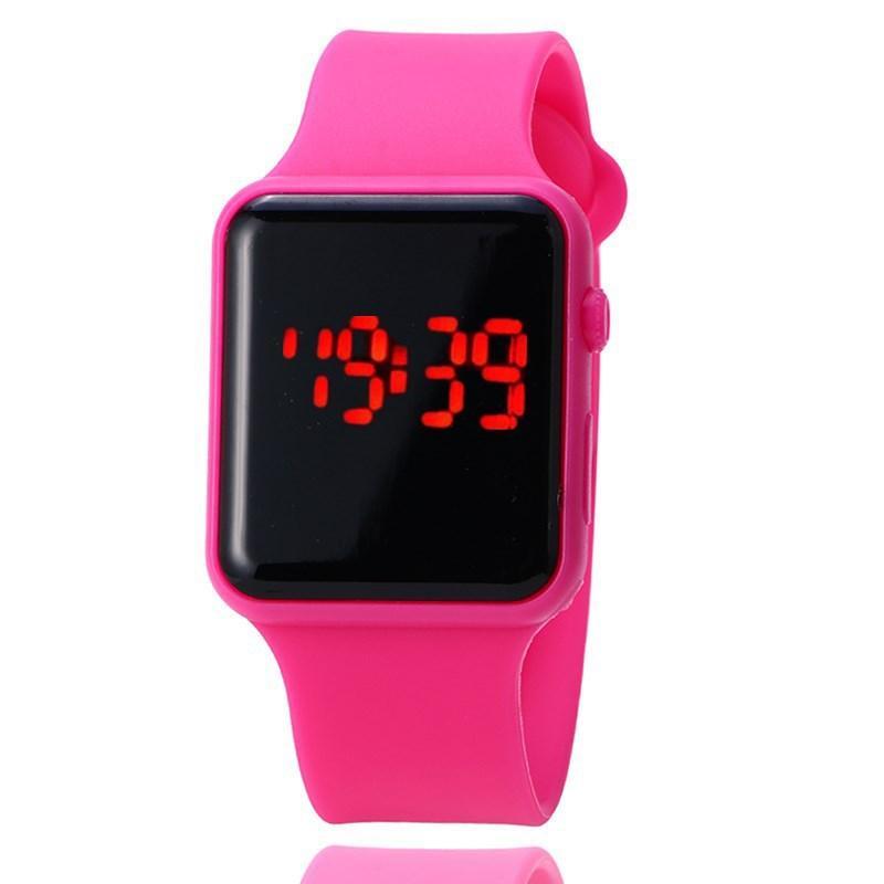 08e8dd104c2 Compre Esportes Dos Homens Das Mulheres Relógio Digital Vermelho Azul  Silicone Strap Aptidão LED Eletrônico Relógios Relogio Digital Feminino  Masculino ...