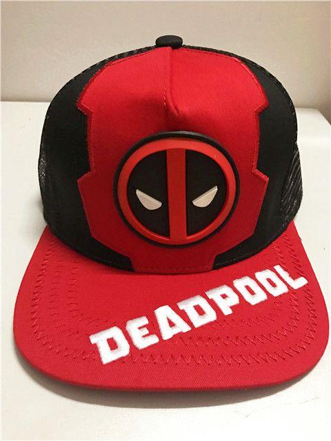 2c79537b7 Deadpool Fashion Caps Men Boy Printed Style Flat Sun Hat Trendy Baseball  Cap Brand Snapback Hat