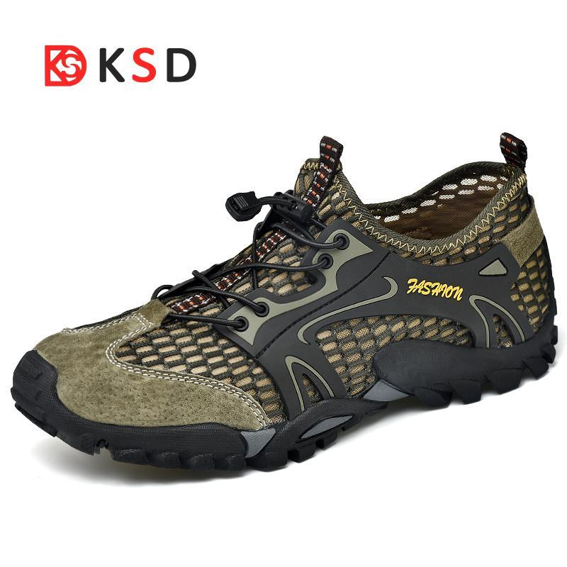 0245d5719052 2018 Men Hiking Shoes Outdoor Sneakers Breathable Sport Shoes Men Big Size  Hiking Sandals For Men Trekking Trail Water Sandals UK 2019 From Superfeel